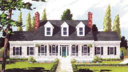 5 Bed, 2 Bath, 2473 Square Foot House Plan - #033-00030