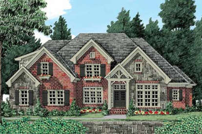 5 Bed, 4 Bath, 3853 Square Foot House Plan - #8594-00275