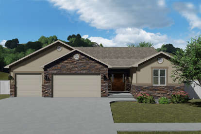 3 Bed, 2 Bath, 1849 Square Foot House Plan - #2802-00039