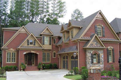 5 Bed, 4 Bath, 3798 Square Foot House Plan - #699-00212
