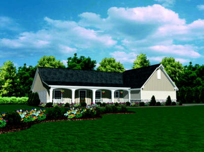 2 Bed, 2 Bath, 1423 Square Foot House Plan - #046-00056