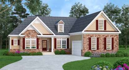 3 Bed, 2 Bath, 1732 Square Foot House Plan - #009-00006
