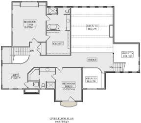 Second Floor for House Plan #5631-00114