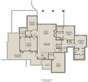 Basement for House Plan #5631-00114