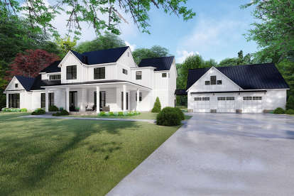 4 Bed, 3 Bath, 3310 Square Foot House Plan - #8318-00118
