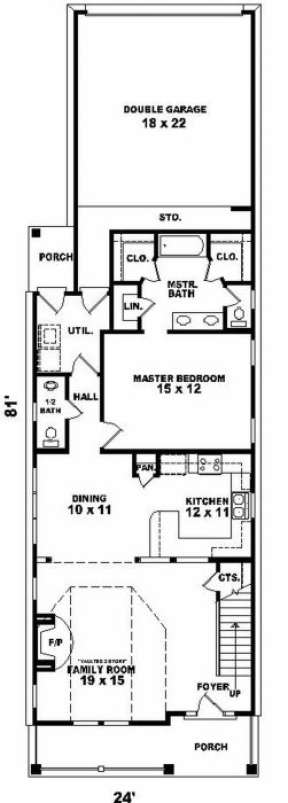 First Floor for House Plan #053-00106