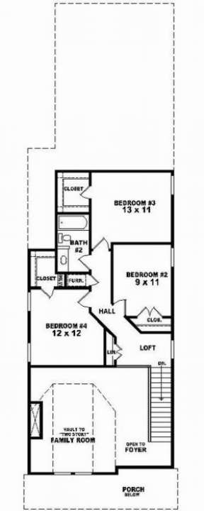 Second Floor for House Plan #053-00106