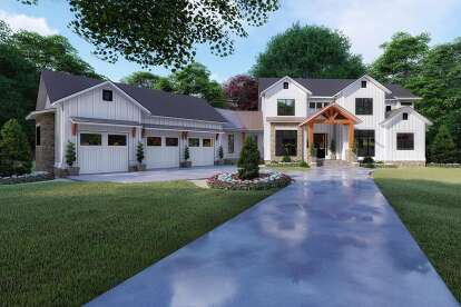 6 Bed, 5 Bath, 6301 Square Foot House Plan - #8318-00120