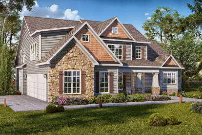4 Bed, 4 Bath, 3098 Square Foot House Plan #6082-00152