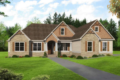 4 Bed, 3 Bath, 2746 Square Foot House Plan - #6082-00154
