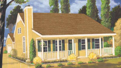 3 Bed, 2 Bath, 1345 Square Foot House Plan - #033-00032