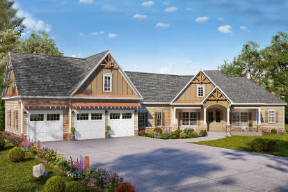 4 Bed, 3 Bath, 3038 Square Foot House Plan - #6082-00160