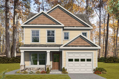 3 Bed, 2 Bath, 1276 Square Foot House Plan #6082-00165