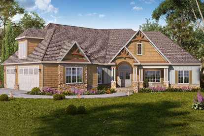 4 Bed, 3 Bath, 3736 Square Foot House Plan - #6082-00166