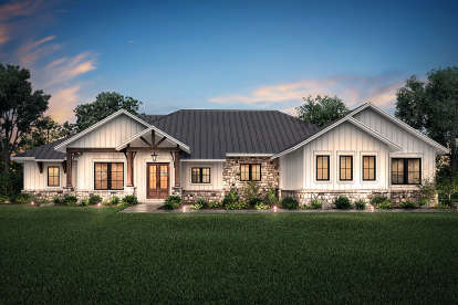 4 Bed, 3 Bath, 3366 Square Foot House Plan - #041-00193