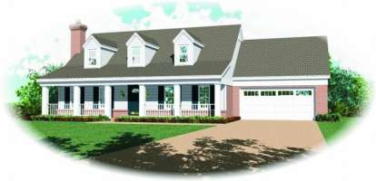 3 Bed, 2 Bath, 1759 Square Foot House Plan - #053-00125