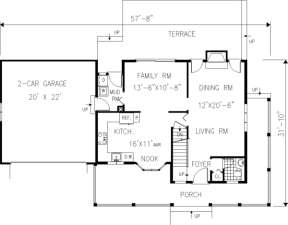 Main Floor for House Plan #033-00034