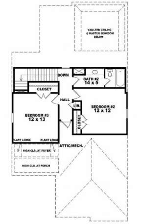Second Floor for House Plan #053-00129
