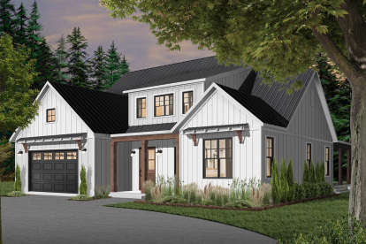 4 Bed, 3 Bath, 3354 Square Foot House Plan - #034-01208