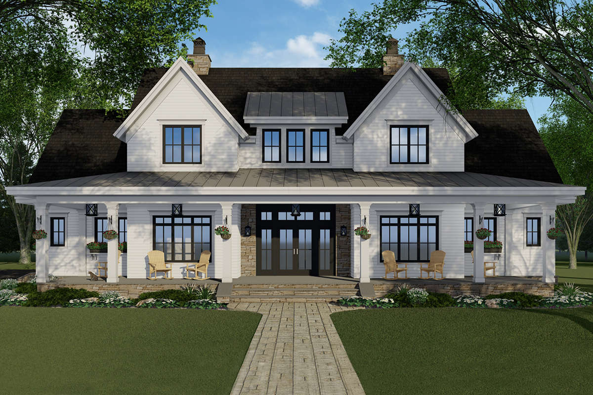 Modern Farmhouse Plan: 2,743 Square Feet, 4 Bedrooms, 4.5 ...