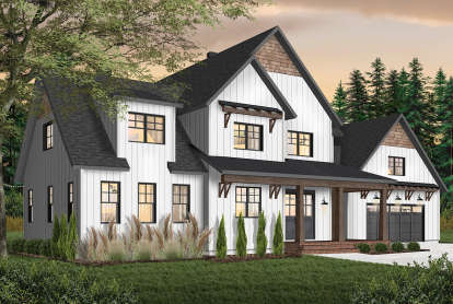 4 Bed, 3 Bath, 3532 Square Foot House Plan - #034-01218