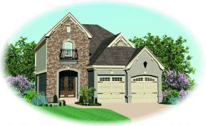 4 Bed, 2 Bath, 1714 Square Foot House Plan - #053-00137