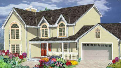 4 Bed, 2 Bath, 2170 Square Foot House Plan - #033-00038