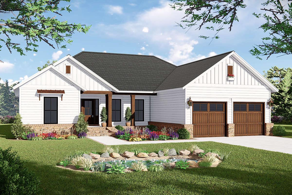 Modern Farmhouse Plan: 1,600 Square Feet, 3 Bedrooms, 2 ...