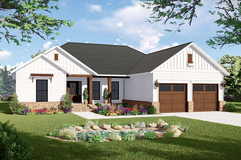 Modern Farmhouse House Plan #348-00290 Elevation Photo