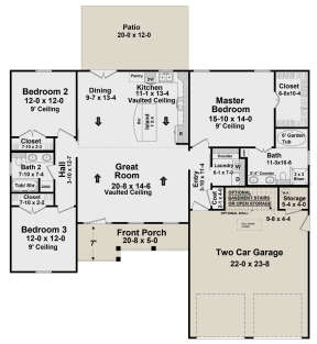 Main Floor for House Plan #348-00290