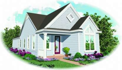 2 Bed, 2 Bath, 1200 Square Foot House Plan - #053-00154