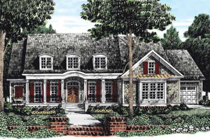 4 Bed, 3 Bath, 3915 Square Foot House Plan - #8594-00314