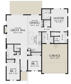 Main Floor for House Plan #2559-00825
