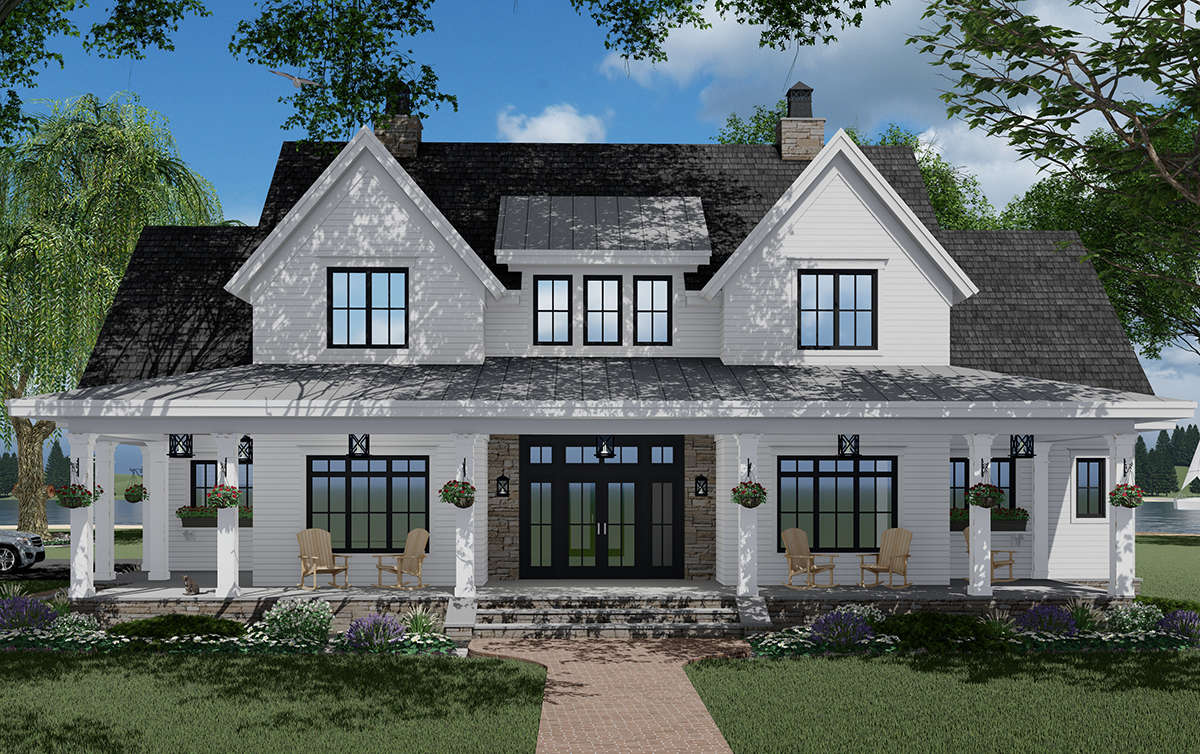 Modern Farmhouse Plan: 2,570 Square Feet, 3 Bedrooms, 3.5 ...