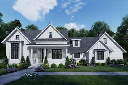 3 Bed, 2 Bath, 1486 Square Foot House Plan #9401-00102