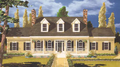4 Bed, 2 Bath, 2454 Square Foot House Plan - #033-00044