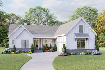 3 Bed, 2 Bath, 1771 Square Foot House Plan - #009-00275