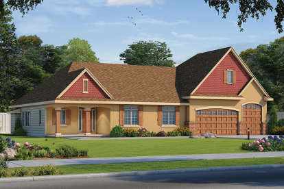 4 Bed, 2 Bath, 3704 Square Foot House Plan - #402-01579