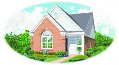 2 Bed, 2 Bath, 1113 Square Foot House Plan - #053-00190