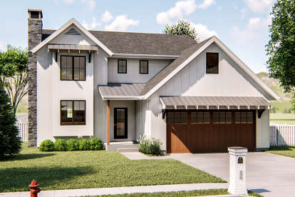 3 Bed, 2 Bath, 1753 Square Foot House Plan - #963-00337