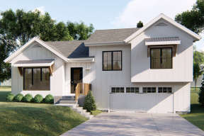 Modern Farmhouse House Plan #963-00346 Elevation Photo