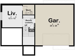 Basement for House Plan #963-00346