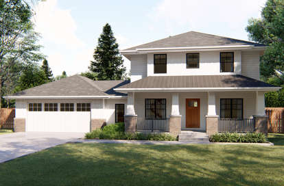 3 Bed, 2 Bath, 2251 Square Foot House Plan - #963-00348