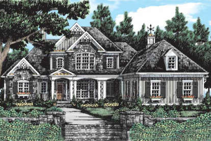 5 Bed, 4 Bath, 3708 Square Foot House Plan - #8594-00325