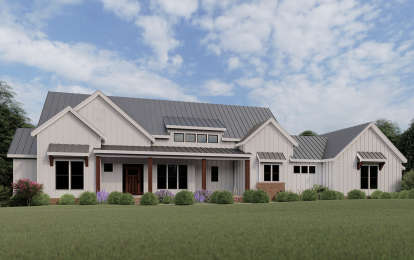3 Bed, 2 Bath, 2565 Square Foot House Plan - #009-00276