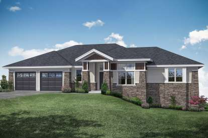3 Bed, 2 Bath, 3237 Square Foot House Plan - #035-00831