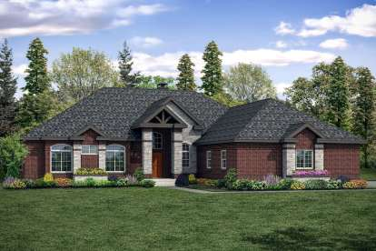 3 Bed, 2 Bath, 2864 Square Foot House Plan #035-00846