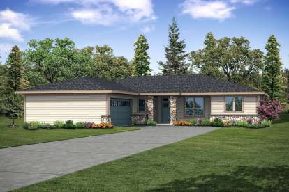 3 Bed, 2 Bath, 2257 Square Foot House Plan #035-00847