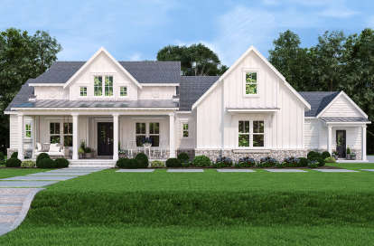3 Bed, 3 Bath, 2484 Square Foot House Plan #4195-00032