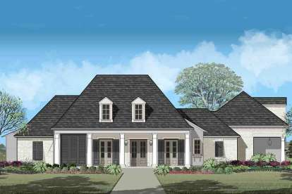 4 Bed, 4 Bath, 3635 Square Foot House Plan - #7516-00037